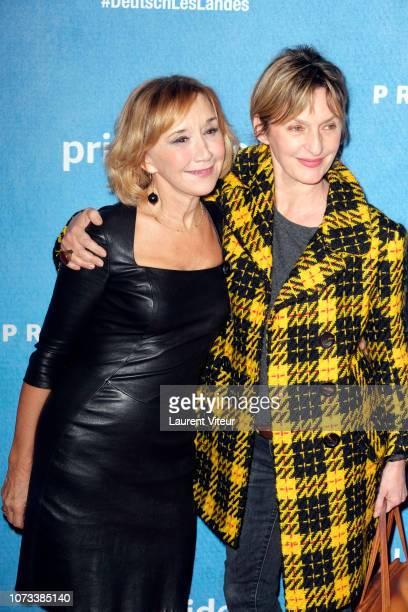 Actress MarieAnne Chazel and Actress Sophie Mounicot attend 'Deutsch les Landes' Premiere at Cinema Gaumont Capucine on November 27 2018 in Paris...