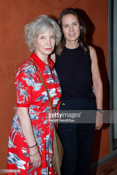 Actress MarieChristine Adam and director Eloise Lang attend the 2019 French Tennis Open Day Ten at Roland Garros on June 04 2019 in Paris France