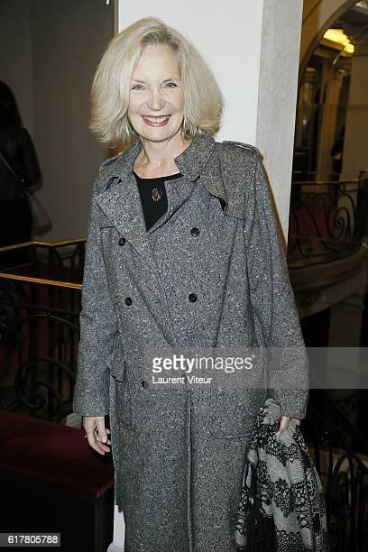 Actress MarieChristine Adam attends L'Heureux Elu theater play premiere at Theatre de La Madeleine on October 24 2016 in Paris France