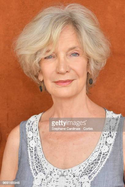 Actress MarieChristine Adam attends the 2018 French Open Day Twelve at Roland Garros on June 7 2018 in Paris France