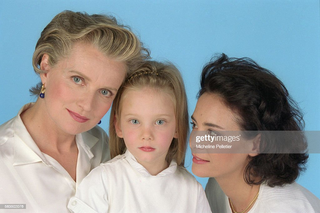 Actresses Marie-Christine Barrault and Nathalie Roussel : News Photo
