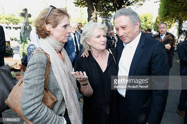Actress Marie-Christine Barrault with her daughter Ariane Toscan Du Plantier and TV presenter Michel Drucker attend President of FIFA protocol Doctor...