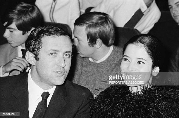 Actress MarieJosée Nat And Director Michel Drach At The Olympia Music Hall In Paris France On September 22 1967