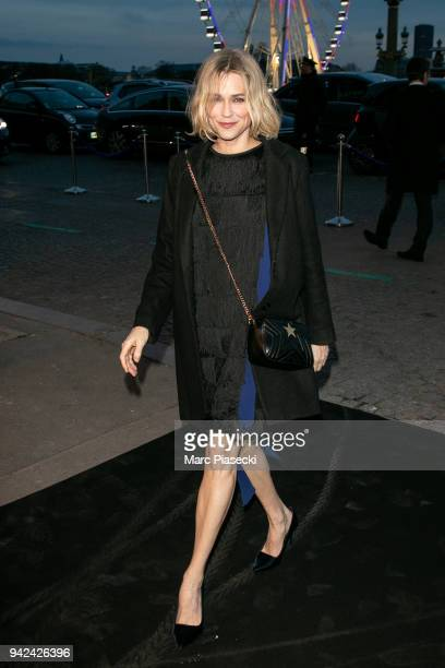 Actress MarieJosee Croze arrives to attend the 'Madame Figaro' dinner at Automobile Club de France on April 5 2018 in Paris France