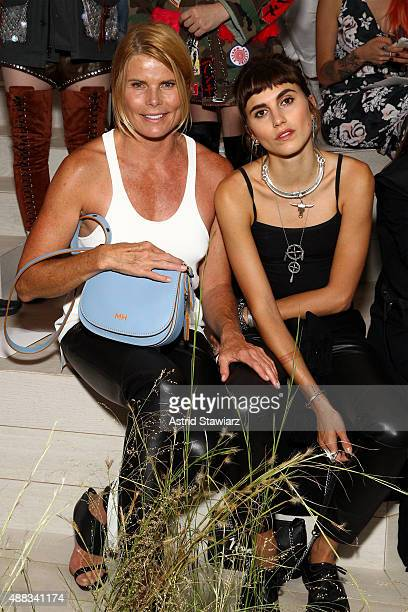 Actress Mariel Hemingway and Langley Fox Hemingway attend the Coach Women's Spring 2016 Show at the Highline during New York Fashion Week on...