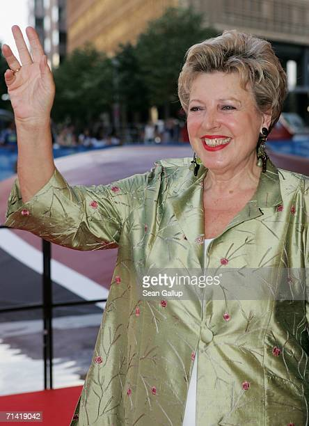"""Actress Marie-Luise Marjan arrives at the German premiere of """"Poseidon"""" July 11, 2006 at the Berlinale Palast in Berlin, Germany."""