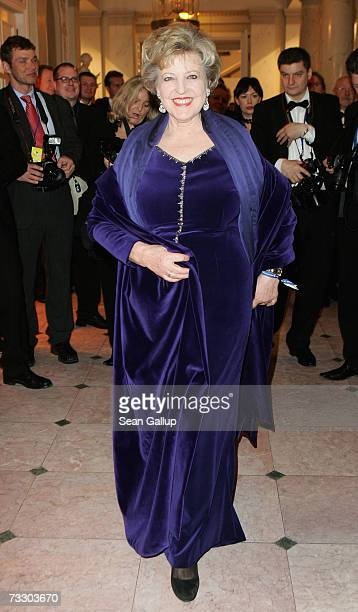 Actress MarieLuise Marjan attends the Cinema for Peace Charity Gala on 12 February 2007 in Berlin Germany The gala is traditionally held during the...