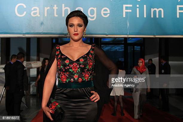Actress Mariem Ben Chaabane attends opening ceremony of the 27th Carthage Film Festival in Tunis, Tunisia on October 28, 2016.