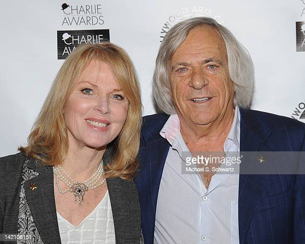 Actress Mariette Hartley and Hollywood Center Studios President and the recipient of The Hollywood Arts Award Alan Singer pose during the 26th Annual...