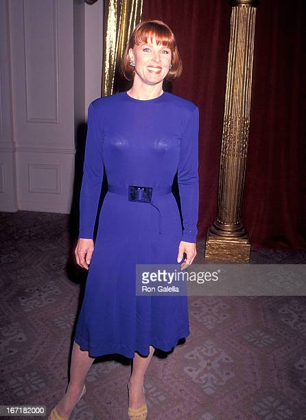 Actress Mariette Hartley attends the Hollywood Women's Press Club's 50th Annual Golden Apple Awards on December 9 1990 at the Beverly Hilton Hotel in...