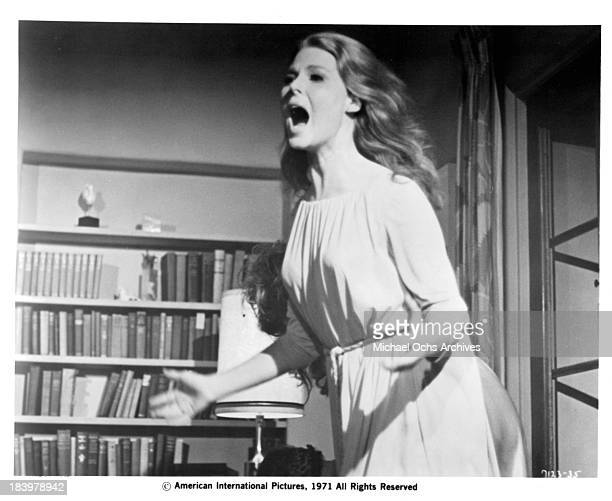 Actress Mariette Hartley on set of the movie The Return of Count Yorga