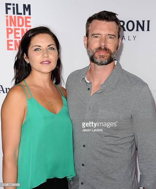 """Actress Marika Dominczyk and actor Scott Foley attend the premiere of """"The Conjuring 2"""" at the 2016 Los Angeles Film Festival at TCL Chinese Theatre..."""