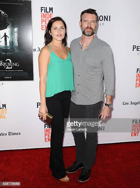 Actress Marika Dominczyk and actor Scott Foley attend the premiere of The Conjuring 2 at the 2016 Los Angeles Film Festival at TCL Chinese Theatre...