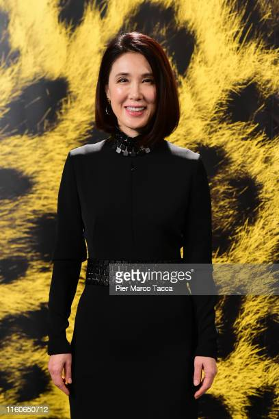 Actress Mariko Tsutsui attends the 'Yokogao photocall during the 72nd Locarno Film Festival on August 10, 2019 in Locarno, Switzerland.