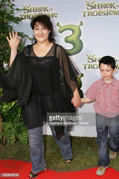 Actress Marilou Berry and a guest attend the premiere of Shrek 3 in Paris
