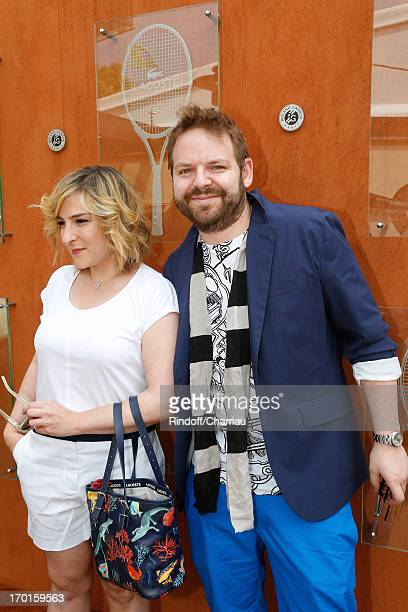 Actress Marilou Berry and companion Arnaud Schneider sighting at Roland Garros Tennis French Open 2013 Day 14 on June 8 2013 in Paris France