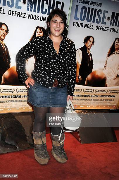 Actress Marilou Berry attends the Louise Michel Premiere at the UGC Cite Halles Cinema on December 18 2008 in Paris France