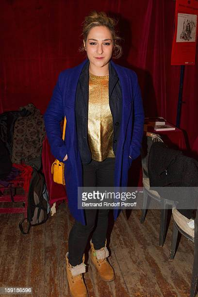 Actress Marilou Berry attends the 'Menelas rebetiko rapsodie' premiere at Le Grand Parquet on January 9 2013 in Paris France