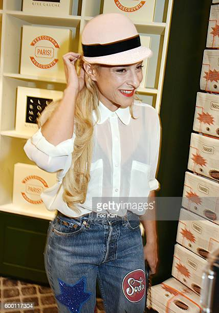 Actress Marilou Berry attends the ''Paris' Exhibition Unveiling Cocktail Party at Le Bon Marche on September 7 2016 in Paris France