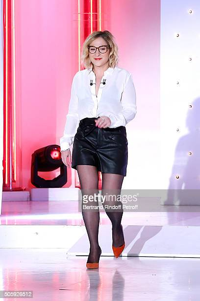 Actress Marilou Berry presents the movie 'Josephine s'arrondit' during the 'Vivement Dimanche' French TV Show at Pavillon Gabriel on January 20 2016...