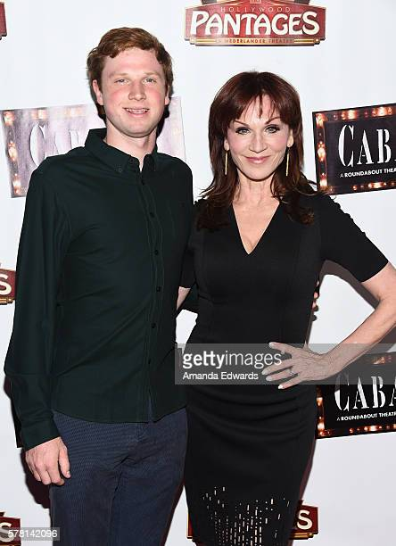 Actress Marilu Henner and her son Joseph Lieberman arrive at the opening of Cabaret at the Hollywood Pantages Theatre on July 20 2016 in Hollywood...