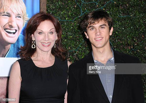 Actress Marilu Henner and her son Nicholas Morgan Lieberman arrive at the Los Angeles Premiere How Do You Know at Regency Village Theatre on December...