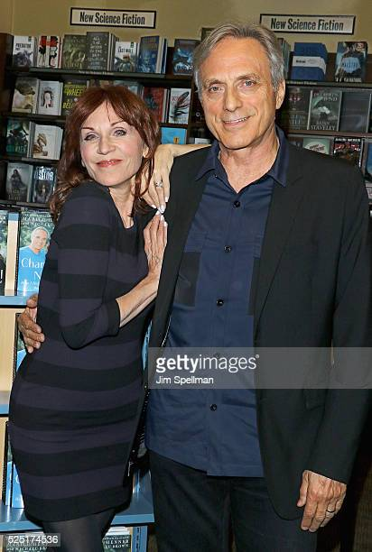 Actress Marilu Henner and husband Michael Brown sign copies of her new book 'Changing Normal How I Helped My Husband Beat Cancer' at Barnes Noble...