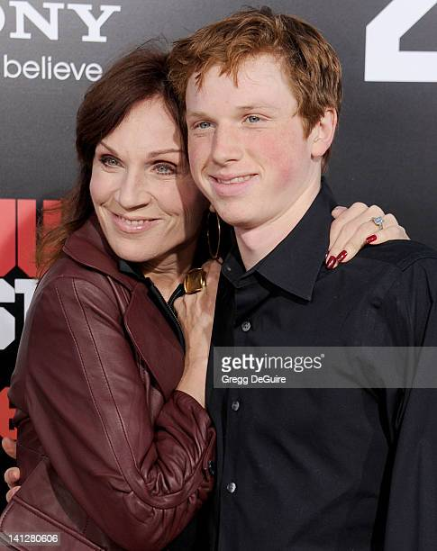 Actress Marilu Henner and son arrive at 21 Jump Street Los Angeles Premiere at Grauman's Chinese Theatre on March 13 2012 in Hollywood California