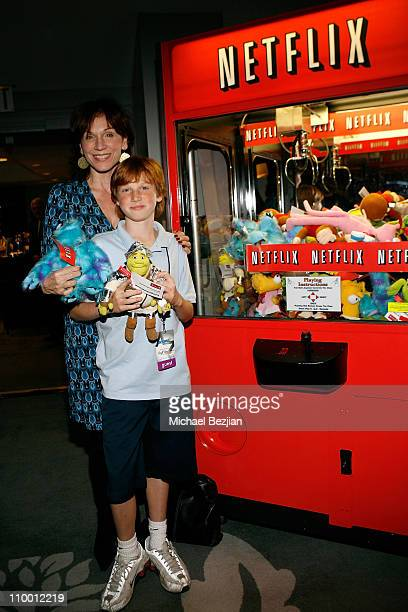Actress Marilu Henner and son at the Access Hollywood Stuff You Must Lounge Presented by On 3 Productions at Sofitel Hotel on January 11 2008 in...