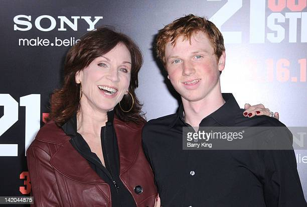 Actress Marilu Henner and son Joseph Marlon Lieberman arrive at the Los Angeles Premiere '21 Jumpstreet' at Grauman's Chinese Theatre on March 13...