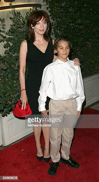 Actress Marilu Henner and son Nicholas arrive at the 20th Anniversary Celebration of Larry King Live at Spago on October 6 2005 in Los Angeles...