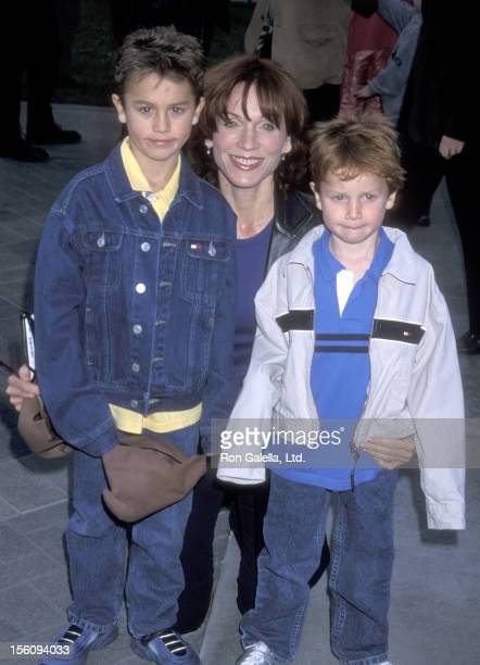 Actress Marilu Henner and sons Joseph Lieberman and Nicholas Lieberman attend the 'Jimmy Neutron Boy Genius' Hollywood Premiere on December 9 2001 at...