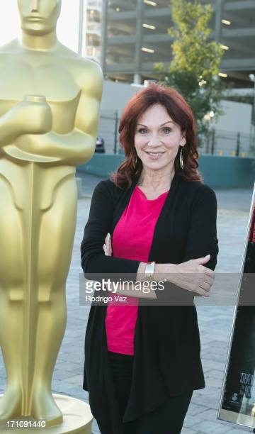 Actress Marilu Henner arrives at the Academy of Motion Picture Arts and Sciences' Oscars Outdoors screening of 'LA Story' on June 21 2013 in...