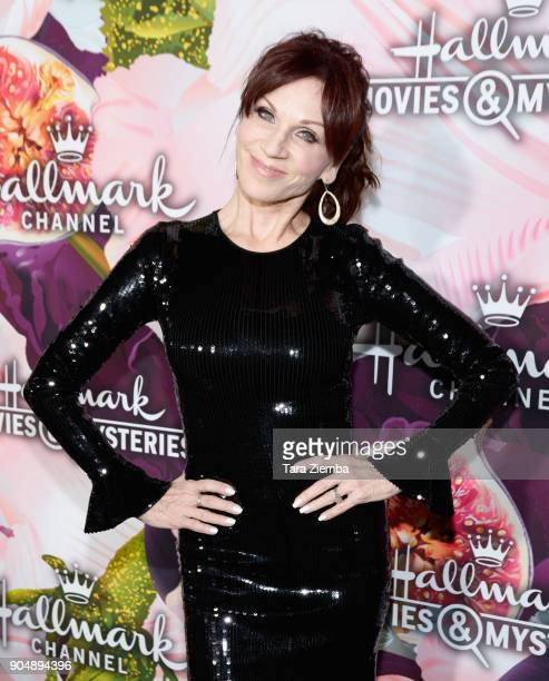 Actress Marilu Henner attends Hallmark Channel and Hallmark Movies and Mysteries Winter 2018 TCA Press Tour at Tournament House on January 13 2018 in...