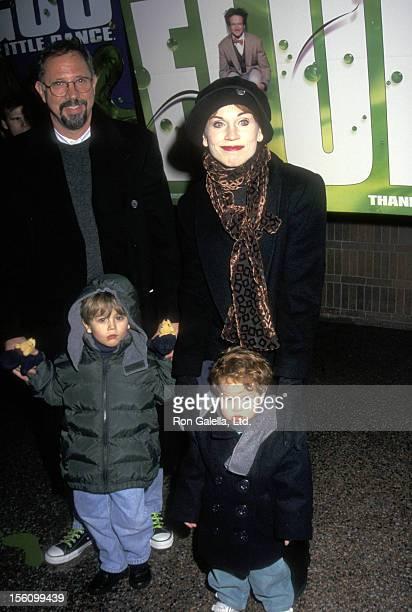 Actress Marilu Henner husband Director Robert Lieberman and sons Joseph Lieberman and Nicholas Lieberman attend the 'Flubber' New York City Premiere...