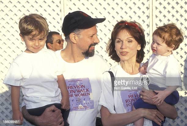 Actress Marilu Henner husband Director Robert Lieberman and sons Joseph Lieberman and Nicholas Lieberman attend the Fourth Annual Revlon Run/Walk to...