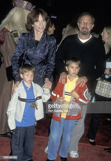 Actress Marilu Henner husband Director Robert Lieberman and sons Joseph Lieberman and Nicholas Lieberman attend the 'Harry Potter and the Sorcerer's...