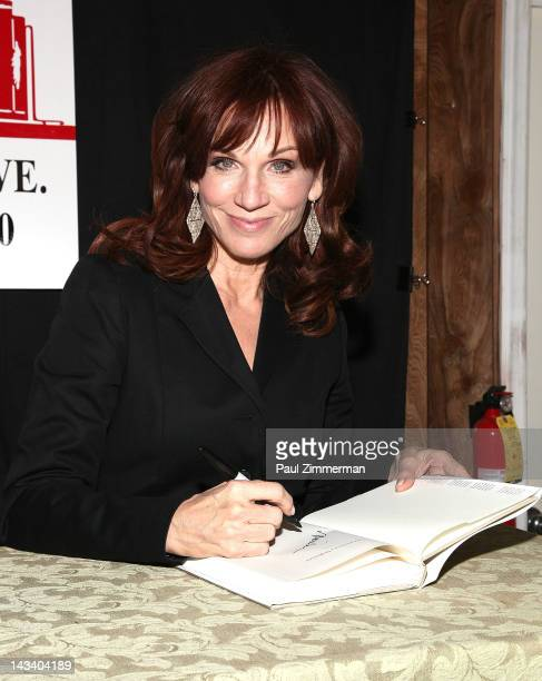 """Actress Marilu Henner promotes """"Total Memory Makeover"""" at Bookends Bookstore on April 25, 2012 in Ridgewood, New Jersey."""
