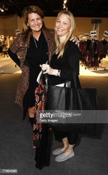 Actress Marilyn Heston and Actress Sara Wynter attends the Billion Dollar Babes shopping event at Smashbox Studios on November 9 2007 in West...