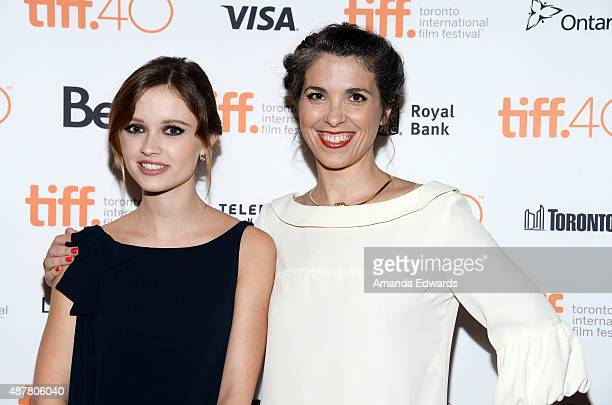 Actress Marilyn Lima and director Eva Husson attend the 2015 Toronto International Film Festival photo call for Bang Gang at The Elgin on September...