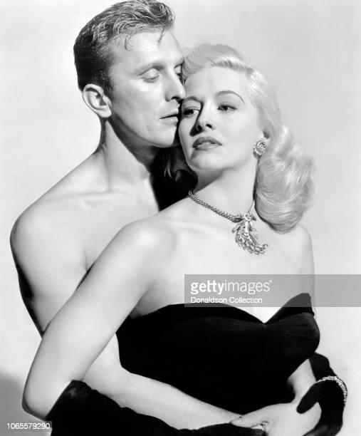 Actress Marilyn Maxwell adn Kirk Douglas in a scene from the movie 'Champion'