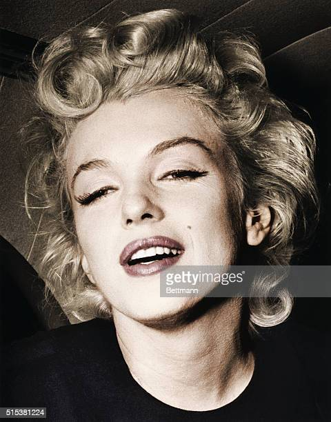 Actress Marilyn Monroe after arriving at Idlewild Airport in New York for a six week rest.