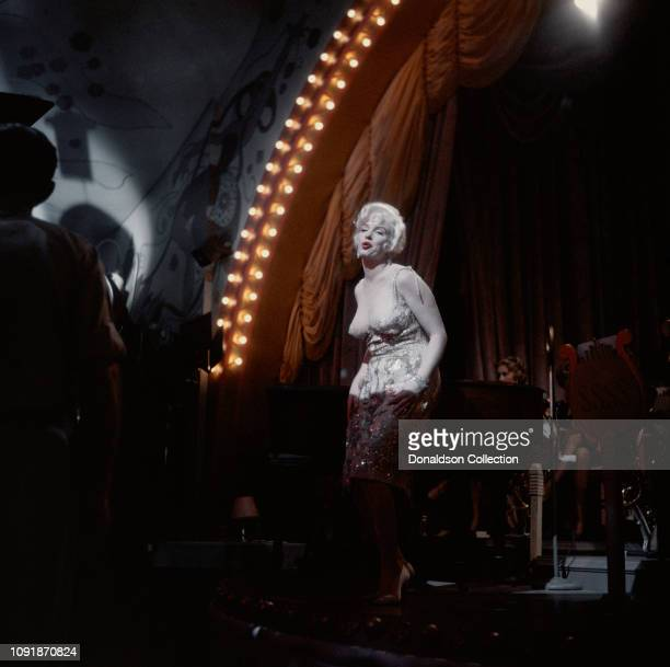 Actress Marilyn Monroe on the set of the film Some Like it Hot in Los Angeles California