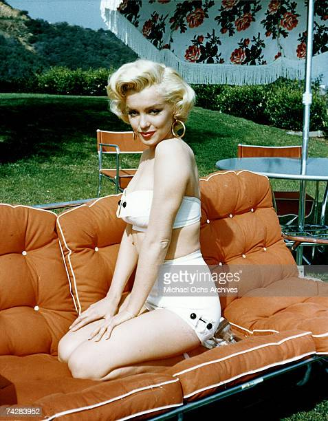 Actress Marilyn Monroe poses for a portrait in circa 1953.