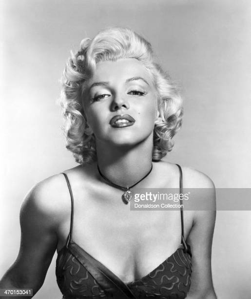 "Actress Marilyn Monroe poses for a publicity portrait for the 20th Century-Fox movie ""River of No Return"" in 1954 in Los Angeles, California."