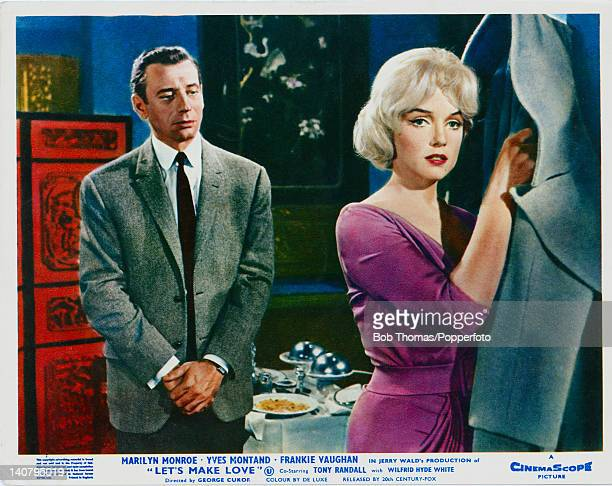 Actress Marilyn Monroe stars with actor Yves Montand in the 20th Century Fox film 'Let's Make Love' 1960