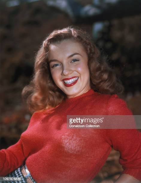 Actress Marilyn Monroe then known as Norma Jeane Mortenson poses for a portrait in 1946 in Los Angeles, California.