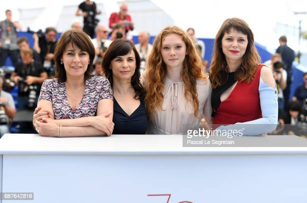 Actress Marilyne Canto director Annarita Zambrano and actresses Charlotte Cetaire Barbora Bobulova attend the Dopo La Guerra Apres La Guerre...