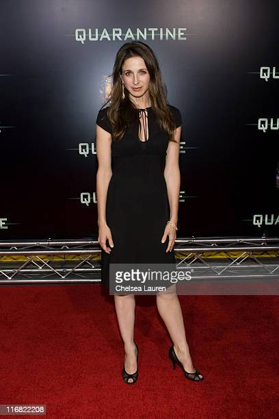 Actress Marin Hinkle arrives at Screen Gem's Los Angeles Premiere of 'Quarantine' at Knott's Scary Farm on October 9 2008 in Buena Park California