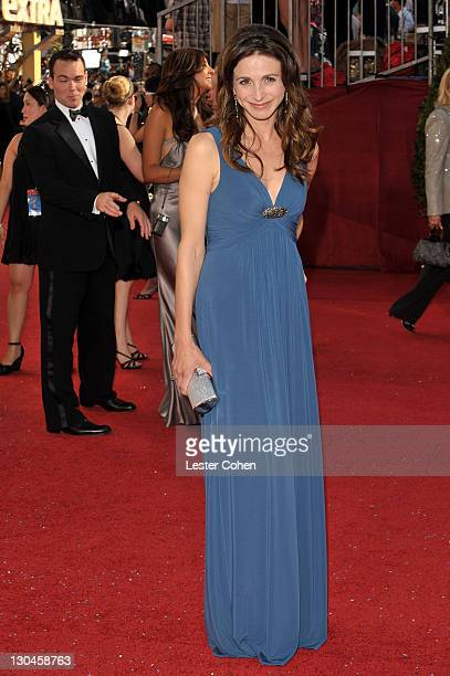 Actress Marin Hinkle arrives at the 60th Primetime Emmy Awards at the Nokia Theater on September 21 2008 in Los Angeles California